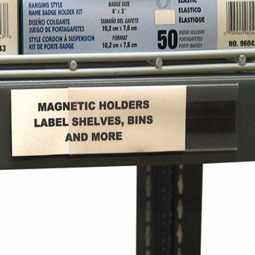 Magnetic Shelf Label Holders Image 1