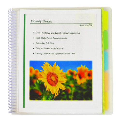 C-Line 10-Pocket Poly Portfolio with Write-on Tabs 1pk (CLI-33650) Image 1