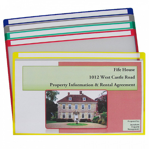 "C-Line 14"" X 8 1/2"" Colored Project Folders with Write-On Tab 25pk (CLI-62180) Image 1"