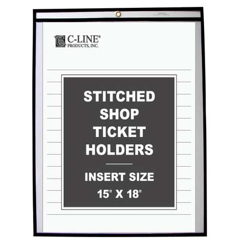 "C-Line 15"" x 18"" Stitched Shop Ticket Holders 25pk (CLI-46158) Image 1"