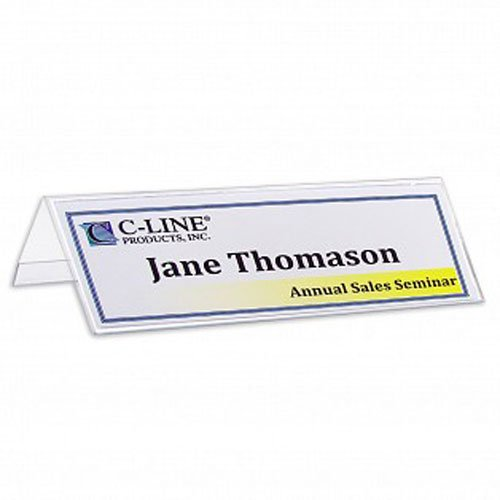 "C-Line 2-1/2"" x 8-1/2"" Heavyweight Rigid Plastic Name Tent Holder 25pk - CLI-87597 (CLI-87597-FBA) Image 1"