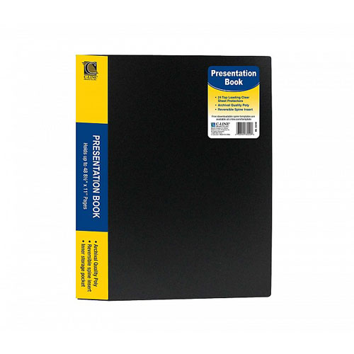 Bound Sheet Protector Presentation Book Image 1