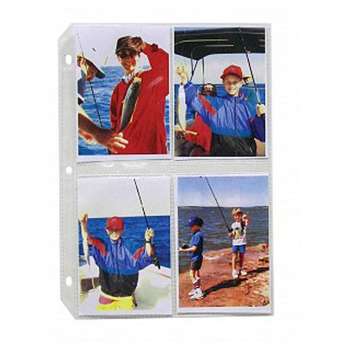 "C-Line 3 1/2"" x 5"" Clear Polypropylene Photo Holders 50pk (CLI-52584) Image 1"