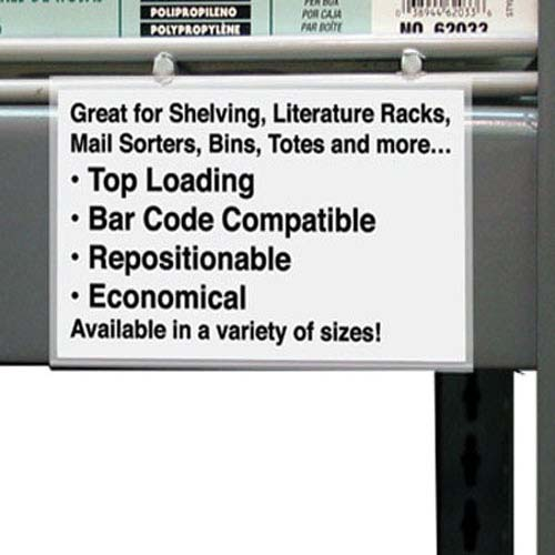 "C-Line 3/4"" x 6"" Best Value Shelf/Bin Label Holders 50pk (CLI-87617) Image 1"