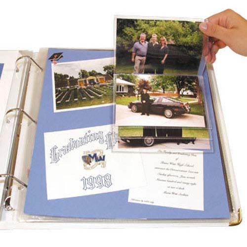 "C-Line 4"" x 6"" Memory Book Flip Pocket 6pk (CLI-66027), Brands Image 1"