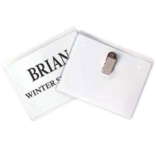 Name Badge Holders with Clips Image 1