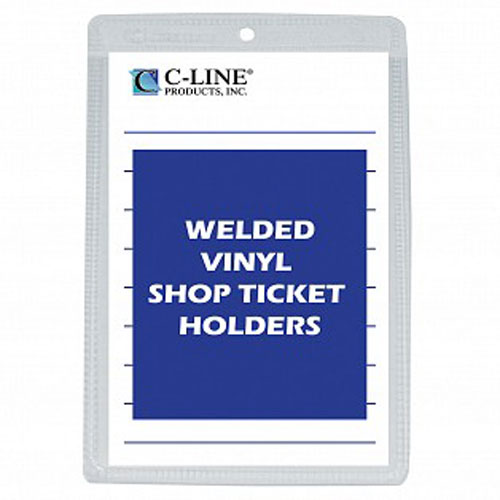 """C-Line 6"""" x 9"""" Vinyl Shop Ticket Holders 50pk (CLI-80069), Work from Home Products Image 1"""