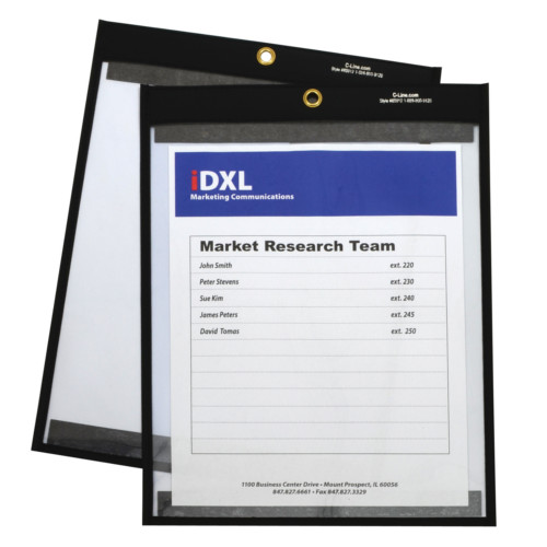 "C-Line 9"" x 12"" Magnetic Stitched Shop Ticket Holder 25pk (CLI-85912) - $33.5 Image 1"