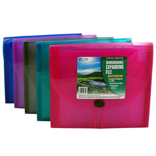 C-Line Assorted 13-Pocket Biodegradable Expanding File 12pk (CLI-48310) Image 1