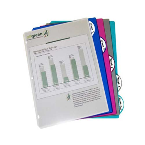 C-Line Assorted Poly Binder Index Dividers 5pk - CLI-5730 (CLI-05730) Image 1