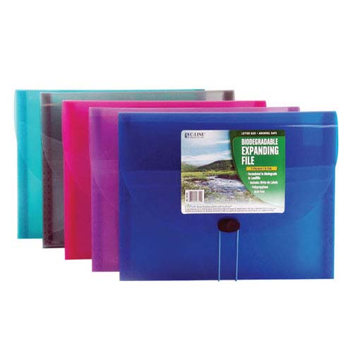 C-Line Assorted 7-Pocket Biodegradable Expanding File 12pk (CLI-48300) Image 1