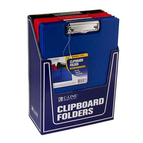 "C-Line Assorted 8 1/2"" x 11"" Clipboard Folder 12pk (CLI-30600) Image 1"