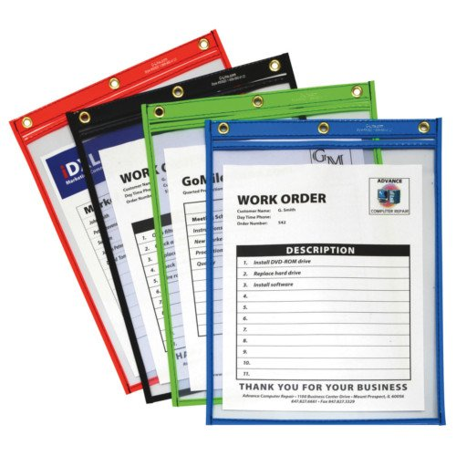 "C-Line Assorted 9"" x 12"" Heavy Duty Super Heavyweight Plus Shop Ticket Holder 20pk (CLI-50920) Image 1"