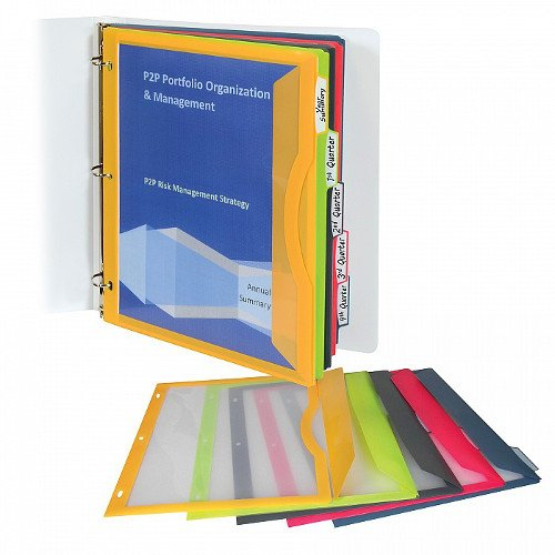 C-Line Assorted Binder Pocket with Write-on Index Tabs 5pk (CLI-6650) - $2.8 Image 1