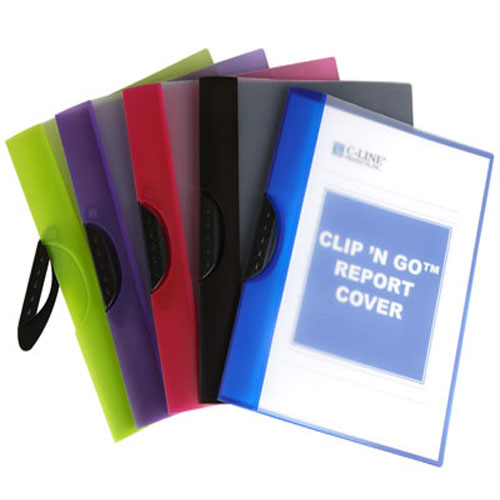 C-Line Assorted Clip 'N Go Report Covers - 24 EA (CLI-99326) Image 1