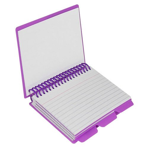 C-Line Assorted Spiral Bound Index Card Notebook with Tabs 24pk (CLI-48750) Image 1