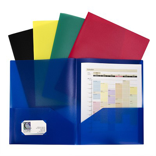 C-Line Assorted Two-Pocket Heavyweight Poly Portfolio 10pk (CLI-32950) - $12.99 Image 1
