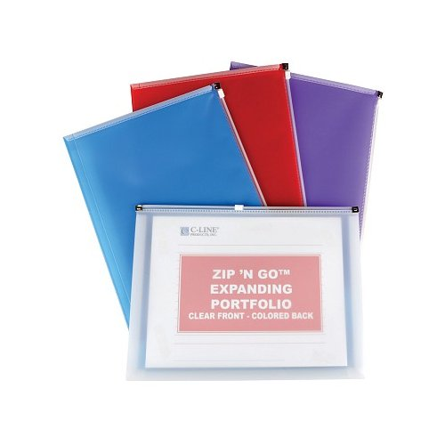 C-Line Assorted Zip 'N Go Reusable Envelopes 24pk (CLI-99480) Image 1