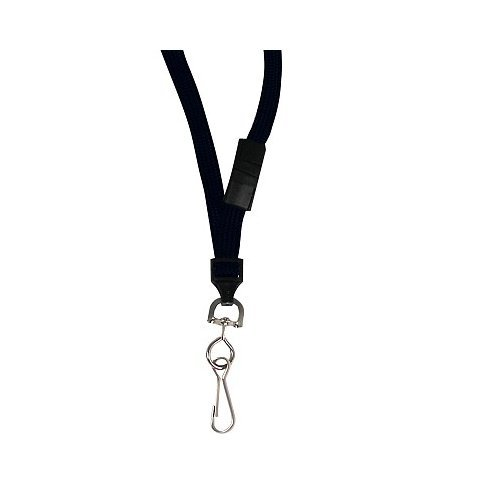 C-Line Black Breakaway Lanyards with Swivel Hook 12pk (CLI-89511) Image 1