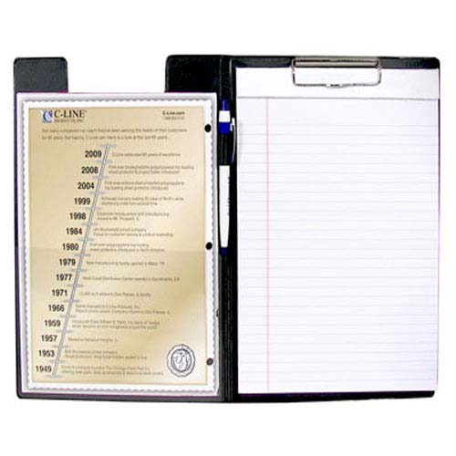 C-Line Black Clipboard Folder 1pk (CLI-30601) Image 1