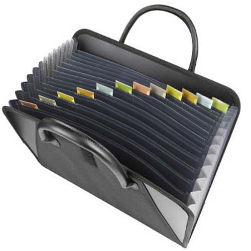 Expandable File Folder with Handle Image 1
