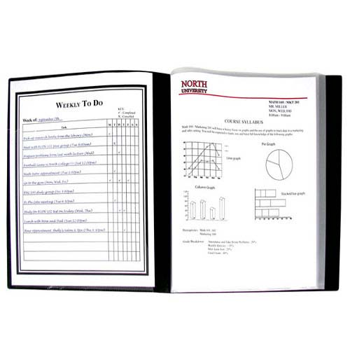 C-Line Black Presentation Book Sheet Protector (CLI-33120) Image 1