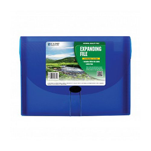 C-Line Blue 13-Pocket Biodegradable Expanding File (CLI-48315) Image 1