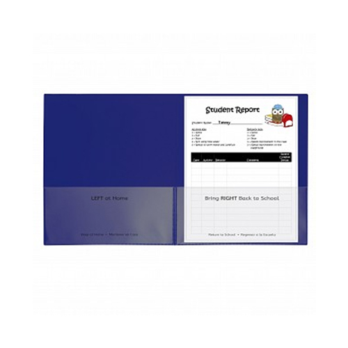C-Line Blue Classroom Connector School-To-Home Two-Pocket Folder 25pk (CLI-32005) Image 1