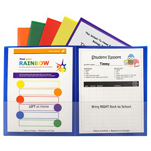 C-Line Classroom Connector School-To-Home Two-Pocket Folder (CLCCSTHTPF) Image 1