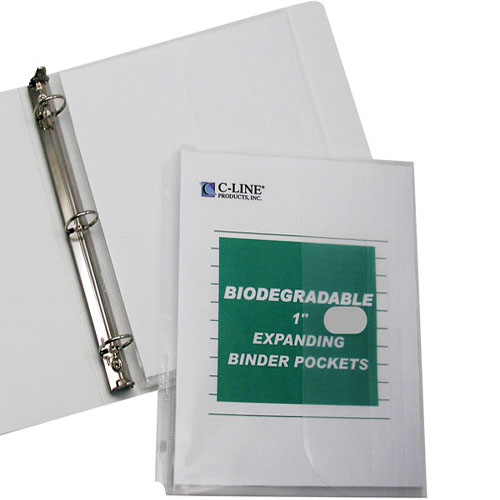 Clear Ring Binder Pockets Image 1
