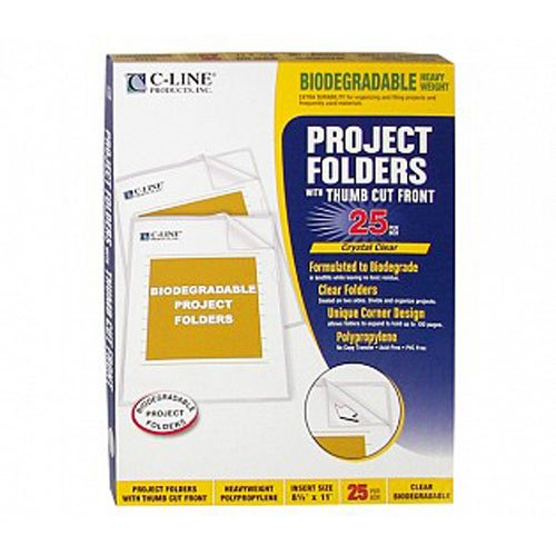 C-Line Clear Biodegradable Project Folders 25pk (CLI-62627) - $11.29 Image 1