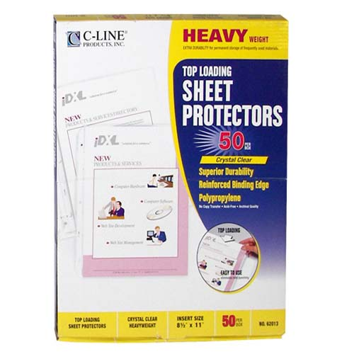 C-Line Clear Heavyweight Poly Sheet Protectors - 50/BX (CLI-HPSPCL) Image 1