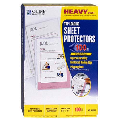 C-Line Clear Heavyweight Top Load Poly Sheet Protectors 100pk (CLI-62023) Image 1