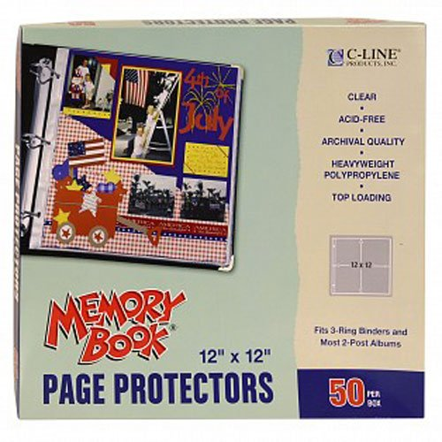 C-Line Clear Memory Book Page Protectors (CLI-MBPPCL) - $10.39 Image 1