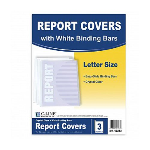 C-Line Clear Polypropylene Report Covers with Binding Bars 3pk (CLI-42313) - $1.6 Image 1