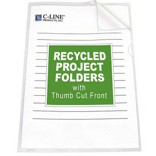 C-Line Clear Recycled Project Folders 25pk (CLI-62127) Image 1