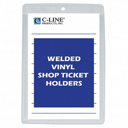 "C-Line Clear Vinyl 5"" x 8"" Shop Ticket Holders 50pk (CLI-80058) Image 1"