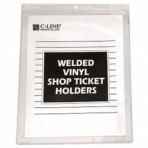 "C-Line Clear Vinyl 8.5"" x 11"" Shop Ticket Holders 50pk (CLI-80911) Image 1"