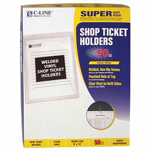 C-Line Clear Vinyl Shop Ticket Holders - 50PK (CLI-VSTHCL) Image 1