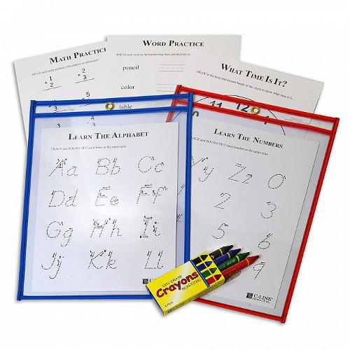 C-Line Dry Erase Pocket Study Aid Kit 1pk (CLI-40600) - $5.18 Image 1