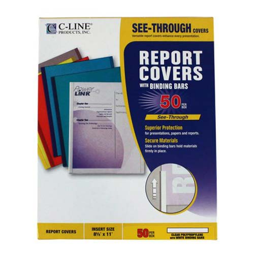 Clear Covers for Binding Reports Image 1