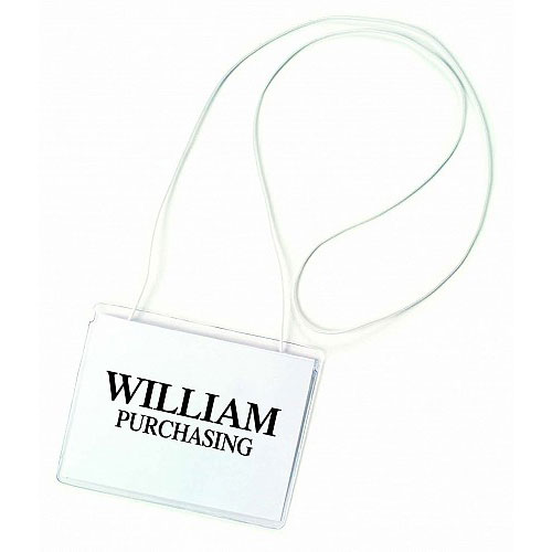 Elastic Neck Cord Badge Holder Image 1