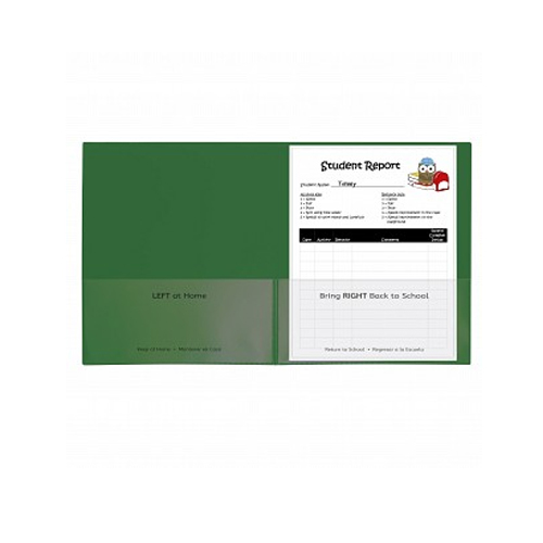 C-Line Green Classroom Connector School-To-Home Two-Pocket Folder 25pk (CLI-32003) Image 1
