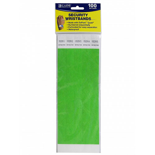 Dupont Tyvek Security Wristbands Image 1