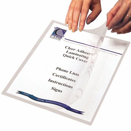 C-Line Heavyweight Cleer Adheer Quick Cover Laminating Pockets 25pk (CLI-65187) Image 1