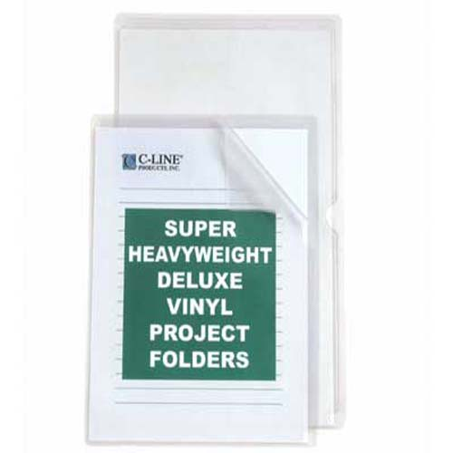 C-Line Legal Size Deluxe Heavyweight Vinyl Project Folders 50pk (CLI-62139)
