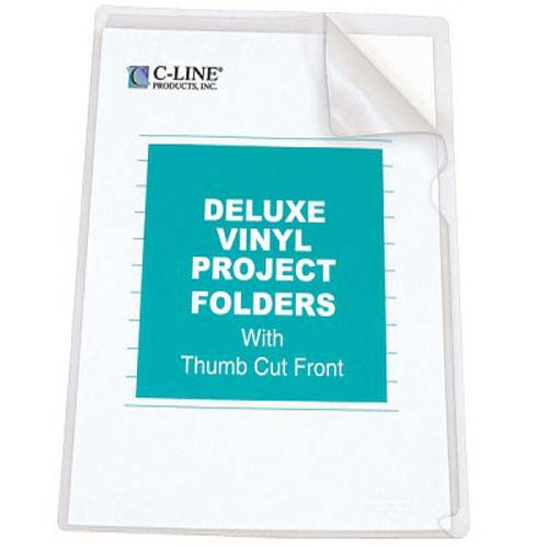 C-Line Letter Size Deluxe Heavyweight Vinyl Project Folders 50pk (CLI-62138)