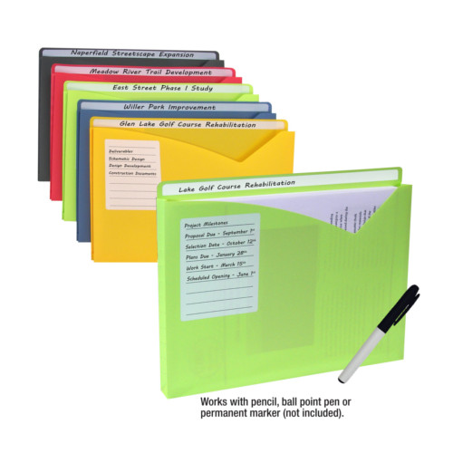 C-Line 11 x 8-1/2 Write-on Poly File Jackets 10pk (CLI-63160) Image 1