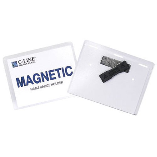 C-Line Magnetic Name Badge Holder Kits 20pk (CLI-92943) Image 1
