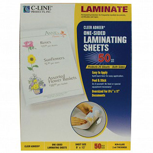 "C-Line Non-glare Heavyweight 9"" x 12"" Do-it-yourself Laminating Sheet 50pk (CLI-65004) Image 1"